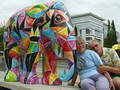 Derek and Ronalda with Elephants in Luxembourg